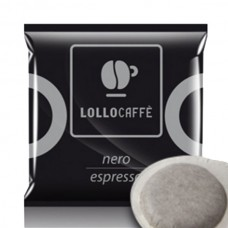 150 Cialde filtrocarta  Lollo caffè miscela nera 44 mm ESE