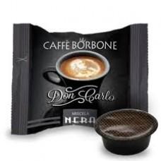 100 Capsule Caffe' BORBONE Miscela Nera Nero DON CARLO Compatibili LAVAZZA A Modo Mio
