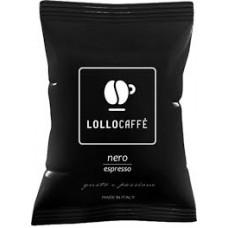 100 Capsule Lollo caffè miscela nera compatibili Lavazza ESPRESSO POINT